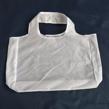 reusable eco friendly white 190t 210d polyester shopping shopper bag
