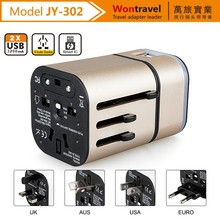 OEM Color print & Luminous logo mobile phone accessories travel power adapter, electric plug adapter for Chrismas gift