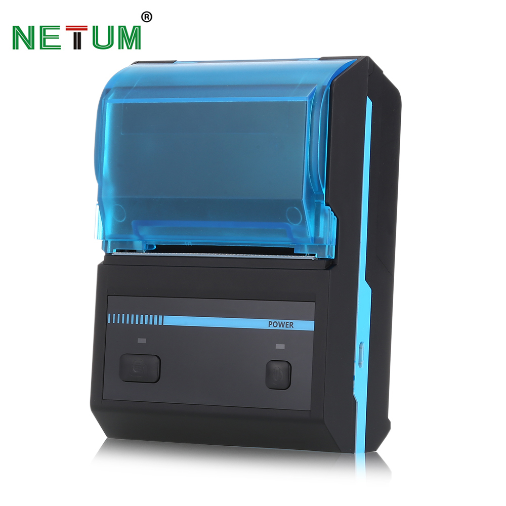 NETUM portable wireless bluetooth mobile printer 58mm pos printer android ios mini thermal receipt printer