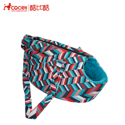 Wholesale Custom Soft blue canvas fleece pet dog carrier with metal hook