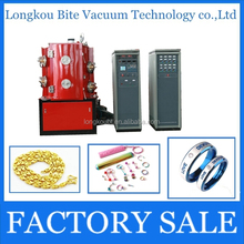 Jewelry imitation 18K Gold Full automatic PVD Vacuum metalizing coating plating machine