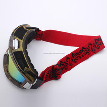 Factory direct sale sublimation custom professional snow goggles strap,ski goggles band
