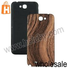 Wood Texture Leather Backup Battery Case for Samsung N7100 Galaxy Note2