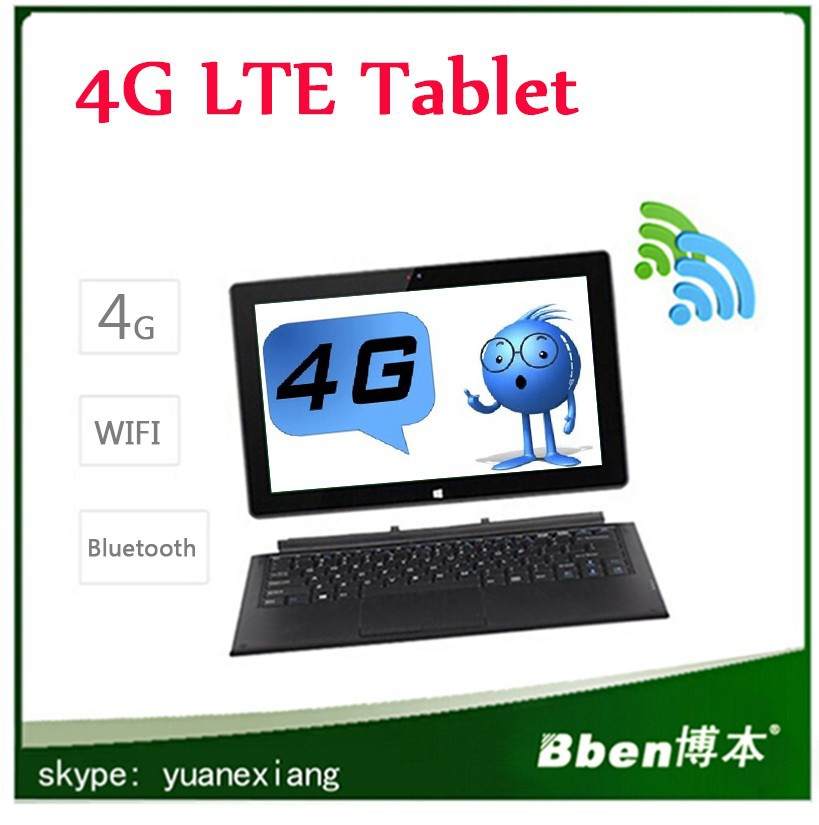 11.6 inch Windows 8.1 / 8 / 7 / XP Tablet PC Build in 4G / 3G LTE Wifi Bluetooth camera