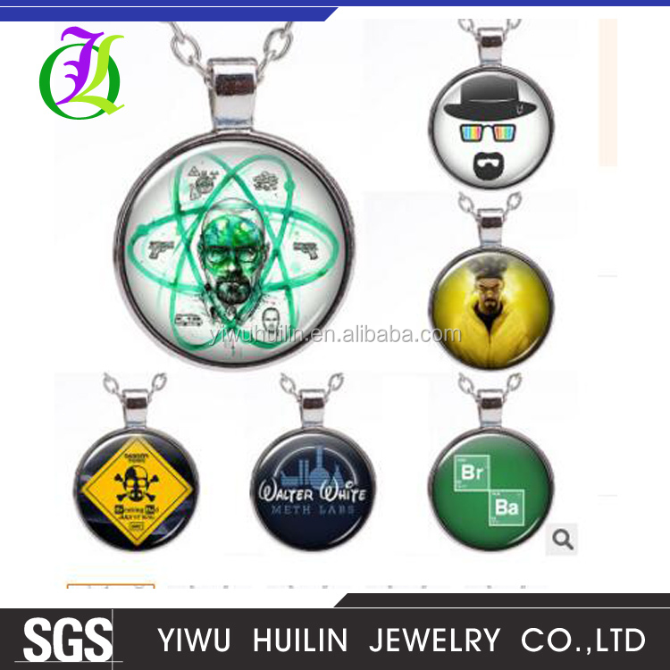 JTBC0002 Yiwu Huilin Jewelry Europe and the United States film figure skull danger letter necklace