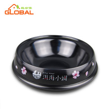 Super design melamine food and water bowl in round shape for cat and dog