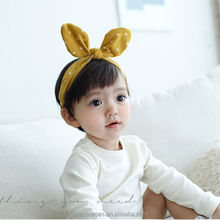 Fashion Baby Girl Headwraps Headband Children Baby cute cheap rabbit ears cotton hair band Hair Accessories