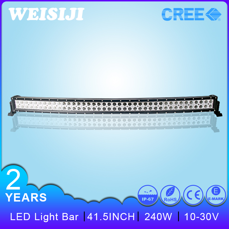 Top Quality Water Proof CE,RoHS,IP67 Crees 12Volt 240W ,SGS,TUV 4x4 Auto 4wd Led Light Bar