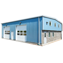 Two storey steel structure large span steel space frame structure warehouse