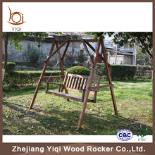 Two Seat Wooden Swing Chair