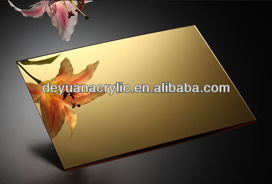 High quality gold mirror acrylic sheet