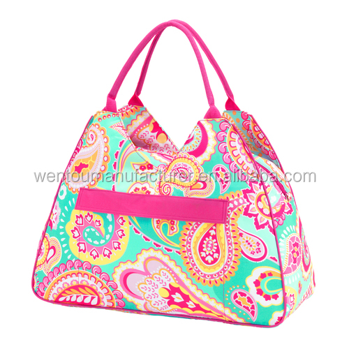 Wholesale Personalized Paisley Tote Monogrammed Summer Paisley Beach Bag Paisley Pool Bag