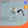 mini clear empty handmade glass water jug with PP lid