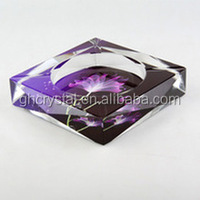 Modern design promotional gift crystal ashtray