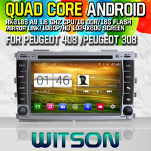 Witson S160 Android 4.4 Car DVD GPS For PEUGEOT 408 2010-2011 PEUGEOT with Quad Core Rockchip 3188 1080P 16g ROM WiFi 3G
