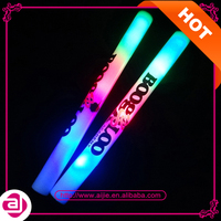 Cheapest wholesale customs logo light up led flashing glowing baton led foam stick