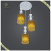 Home decorative 3 heads pendant light for dinning room, painting white hanging lamp
