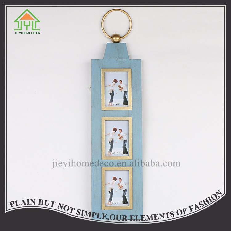 Nice Design Double-Sided Wall Painting Wood Picture Frame For Three Photo
