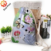 Best latest design sublimated printing drawstring shopping bag