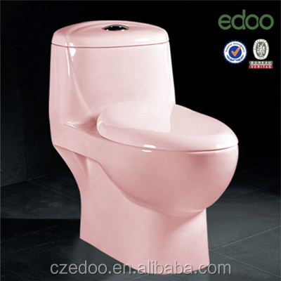 2014 New design popular Pink Color water closet siphonic/washdown one piece toilet