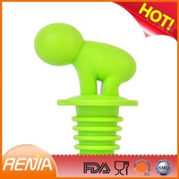RENJIA wine stopper glass silicone rubber plugs lily pad wine stoppers