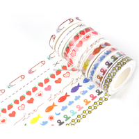 New pattern 8mm*10m japanese washy tape with beautiful cute designs