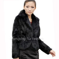 CX-G-A-201 Wholesale Custom Genuine Rabbit Fur Women Coat