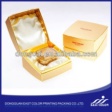 gold cardboard cosmetic box