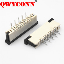 1.0mm Pitch Straight Angle Side Entry with socket ZIF DIP Type FPC/FFC Connectors