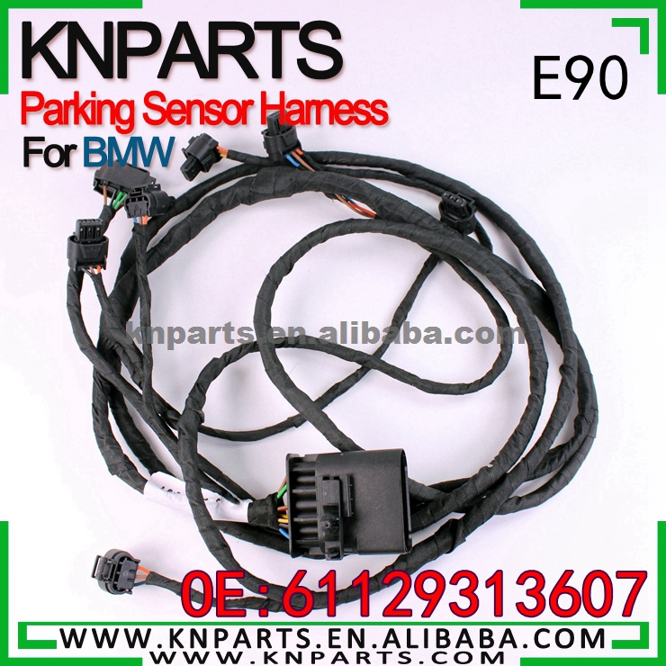 Wiring Loom PDC rear complete harness parking sensor For BMW OE E90-61129313607