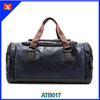 Men Genuine Leather Large Capacity Gym Sports Travel Duffel Bags