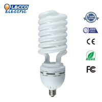 Factory Direct Sale Full spiral 55W halogen energy saving lamps half sprial lamp spial cfl