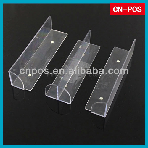 clear acrylic shelf divider for displaying goods