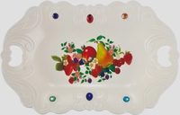 Hot sale large fuit plate with 2 handle