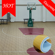 2016 hot sale 8.0 mm pvc indoor basketball <strong>flooring</strong> with CE/ISO