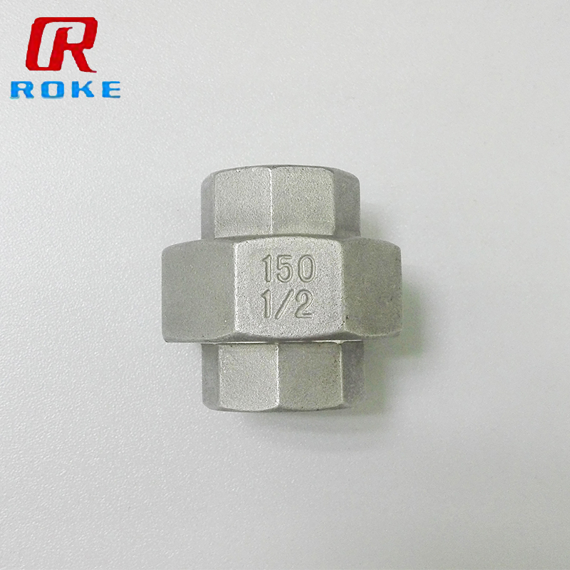 ss pipe fittings union connector, hex coupling compression fitting female connector