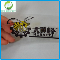 Custom printing transparent pvc static label, clear printing static cling label