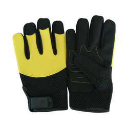 Anti vibration synthetic leather safety mechanic work gloves