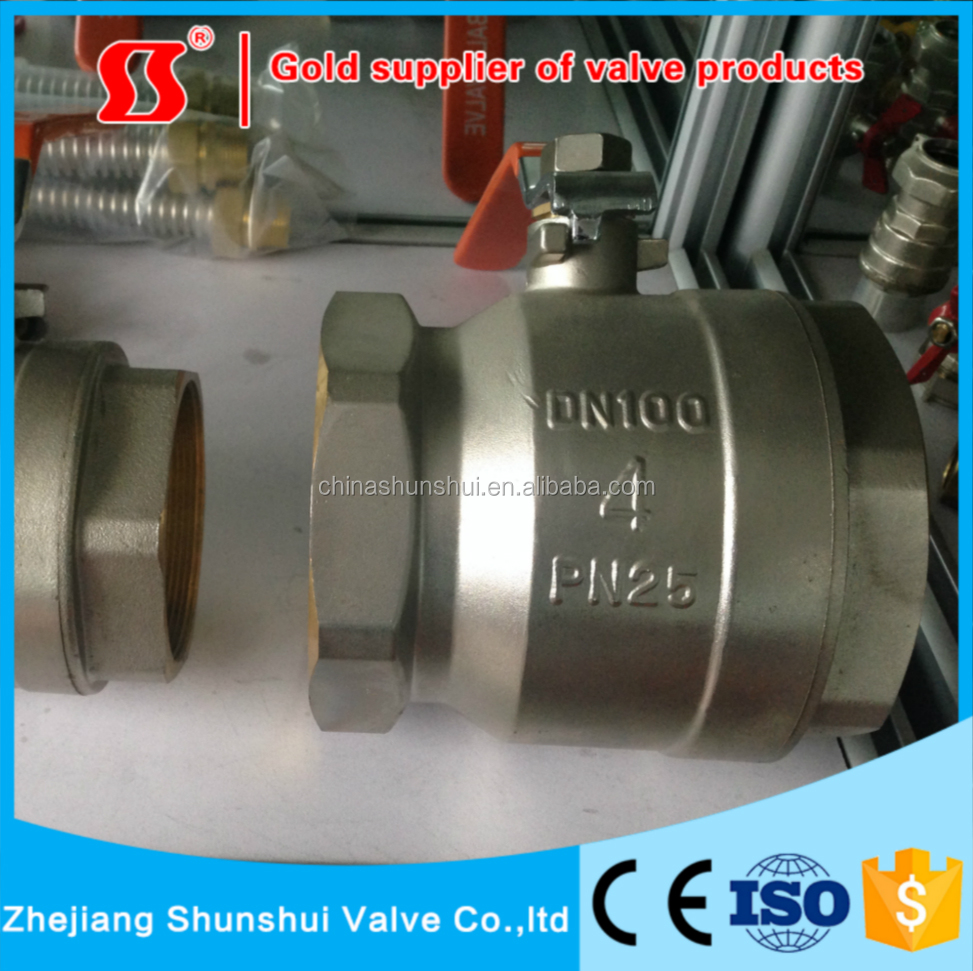 forged NPT threaded connection full port gear operated type ball valve