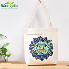 free sample recycled reusable zodiac eco friendly pure cotton canvas tote bag cotton packaging bag