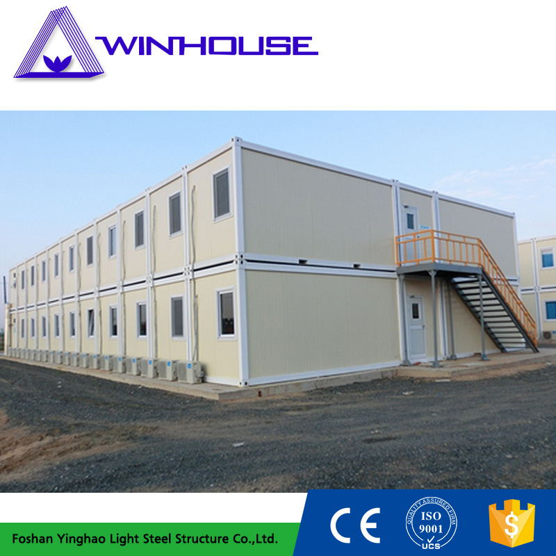 Two Story Living Temporary Office Flatpack Housing Container