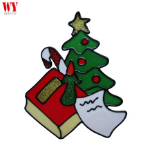 Candle book and xmas tree plastic christmas window decoration sticker