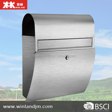 Wall Mounted Stainless Steel Mailbox with newspaper holder letter box