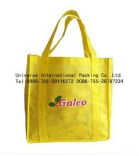 yellow cartoon printed shopping bag for supermarket