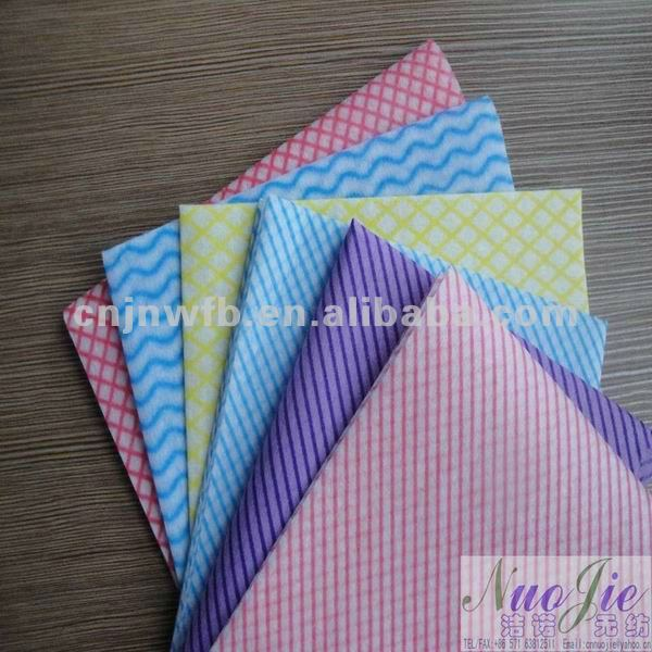 spunlace nonwoven patterned chiffon fabric