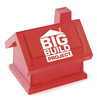 Promotional plastic transparent piggy bank house shaped money box
