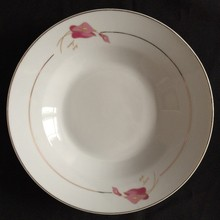 porcelain Soup Plate deep dinner plate for camping travel