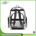 clear PVC beach bag with zipper