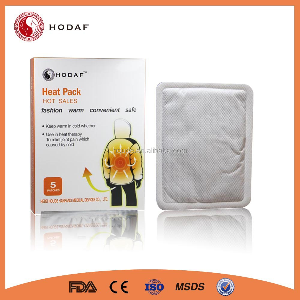 2015 newest product self heating jacket heat pad with high quality patch