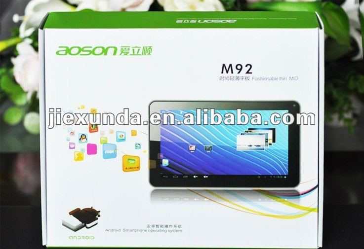Made in China MID AoSon M92 9inch tablets pc All winner A13 1.5ghz G Sensor Camera